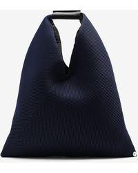 Maison Margiela Japanese bag piccola in mesh - Blu
