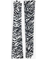 Maison Margiela Zebra Gloves - Black