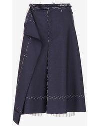 Maison Margiela 'anonymity Of The Lining' スカート - ブルー