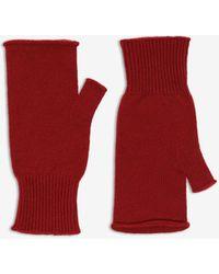 Maison Margiela Fingerless Gloves - Red