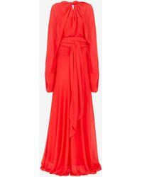 Maison Margiela シルク イブニングドレス - レッド