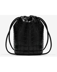 Maison Margiela ロゴ バケットバッグ - ブラック