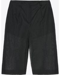 Maison Margiela Cotton Organza Culottes - Black