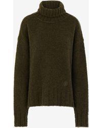 Maison Margiela ヘアリー ニット ロールネック セーター - ブラック