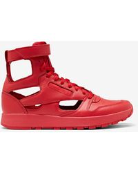 Maison Margiela Sneakers Tabi alte in pelle MM x Reebok Classic - Rosso