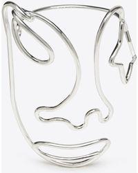 Maison Margiela - Brass Wire Face Bracelet - Lyst