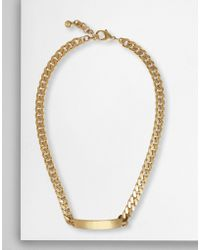 MM6 by Maison Martin Margiela - Chain Id Necklace - Lyst