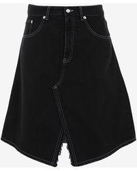 Maison Margiela デニム スカート - ブラック