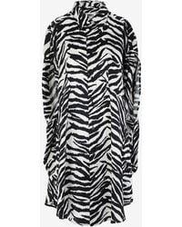 MM6 by Maison Martin Margiela Circle Zebra Shirt-dress - Black