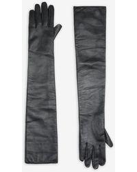 Maison Margiela レザー グローブ - ブラック