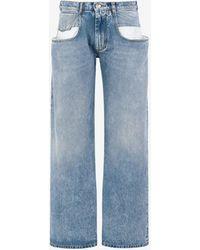 Maison Margiela ストレートジーンズ コントラストポケット付き - ブルー