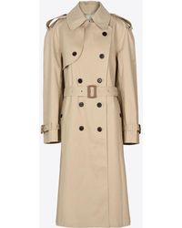 Maison Margiela - Beige Long Trench Crafted By Mackintosh - Lyst