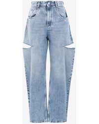 Maison Margiela Jeans in denim strappati - Blu