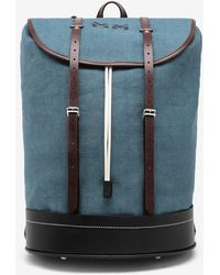 Maison Margiela Stamp Duffle Backpack - Blue