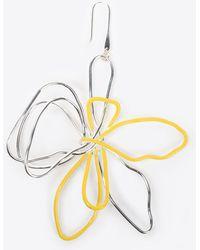 Maison Margiela | Brass Wire Flower Earrings | Lyst
