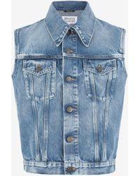 Maison Margiela Sleeveless Recycled Denim Jacket - Blue