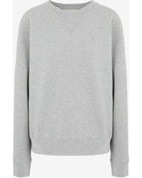 Maison Margiela Mロゴ エンブロイダード スウェットシャツ - グレー