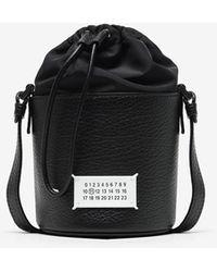 Maison Margiela 5ac Grained-leather Bucket Bag - Black