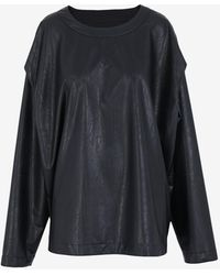 Maison Margiela - オーバーサイズ フェイクレザー スウェットシャツ - Lyst