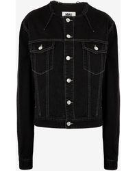 Maison Margiela カラーレス デニム ジャケット - ブラック