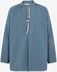 Maison Margiela Aライン シャツ - ブルー