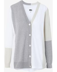 Maison Margiela Cardigan color-block - Bianco