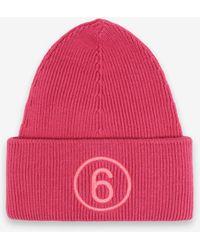 Maison Margiela 6 ロゴ ビーニー ハット - ピンク