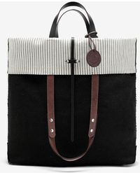 Maison Margiela ロゴ フォールドオーバー トートバッグ - ブラック