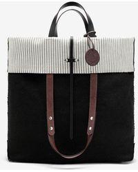 Maison Margiela Tote Bag mit Umschlagklappe und Logo - Schwarz