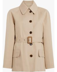 Maison Margiela - Short Beige Trench Crafted By Mackintosh - Lyst