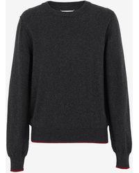 Maison Margiela エルボーパッチ セーター - グレー