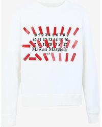 Maison Margiela Tapeプリント スウェットシャツ - ホワイト