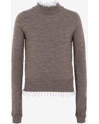 Maison Margiela ライニング セーター - マルチカラー