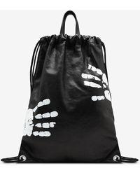 Maison Margiela ドローストリング バックパック ハンドペイント - ブラック
