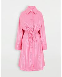MM6 by Maison Martin Margiela Oversized Vinyl Trench - Pink
