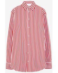 Maison Margiela ストライプ コットンシャツ - レッド