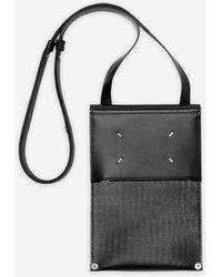 Maison Margiela Smartphone Case mit Umschlagklappe - Schwarz