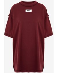 Maison Margiela リバース '6' Tシャツ - レッド