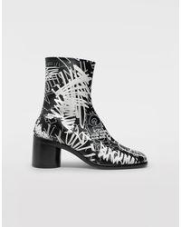 Maison Margiela Graffiti Tabi Boots - Black