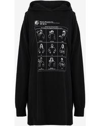 Maison Margiela Sign Language フーディ ドレス - ブラック