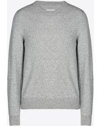 Maison Margiela - ウールセーター エルボーパッチ付き - Lyst