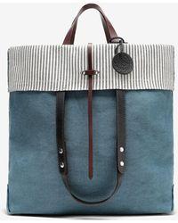 Maison Margiela ロゴ フォールドオーバー トートバッグ - ブルー