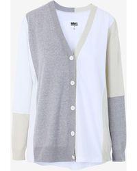 Maison Margiela Colour Block Cardigan - White