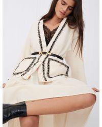 Maje Veste Façon Tweed Contrastée - Neutre