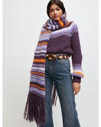 Maje Wide-sleeve Jacquard Jumper - Purple