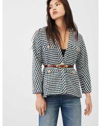 Maje Veste Façon Tweed Inspiration Cardigan - Vert