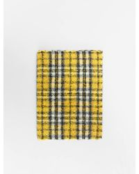 Maje Thick Scarf With Blurred Checks - Multicolour