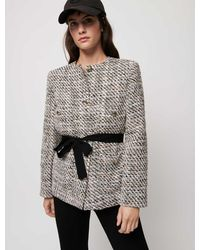 Maje Veste Façon Tweed À Contrastes - Multicolore