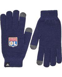 adidas Ol Olympique Lyonnaise Gloves Dark Blue