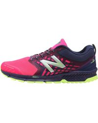 New Balance - Nitrel Trail Running Shoes Grey/pink - Lyst